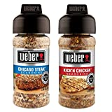 weber classic bbq seasoning - Weber Seasoning Variety 2 Flavor Pack 2.5 Ounce (Chicago Steak and Kick'n Chicken)