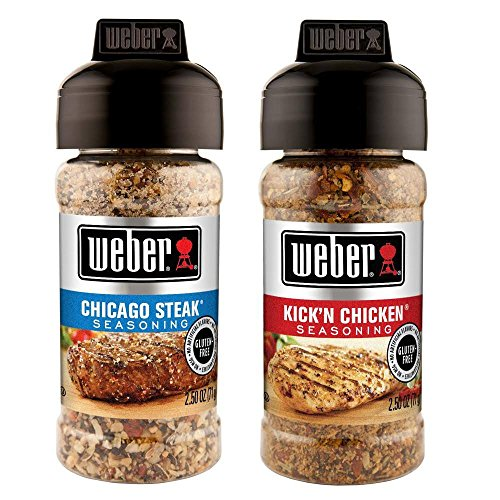 Weber Seasoning Variety 2 Flavor Pack 2.5 Ounce (Chicago Steak and Kick'n Chicken)