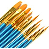 Paint Brush Set, Top Super 10pcs Professional Paint Brushes Artist for Watercolor Oil Acrylic Painting