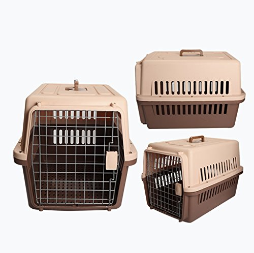 Love Pets Love Pet travel package Out of the air box Dog cat cage Portable pet transport dog cat air transport consignment box (color : Brown, Size : S): Pet Supplies