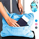 4 in 1 Travel Blanket - Lightweight, Warm and Portable. The Latest Small Compact Airplane Blankets & Pillow Set. Made of...