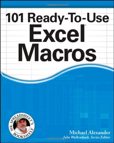 101 Ready-To-Use Excel Macros Front Cover