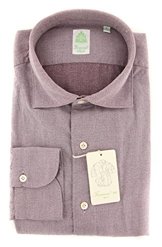 Finamore New Napoli Red Fancy Extra Slim Shirt (Napoli Shirt Red)