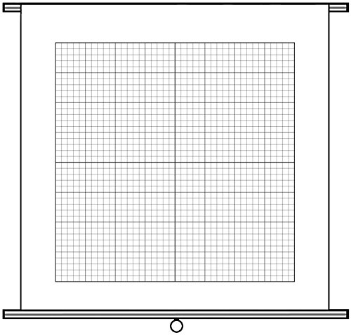 "Geyer Instructional Products 250512 Coordinate Graph Chart, Pull Down, Write-On/Wipe-Off (Dry-Erase), 1"" Grid"
