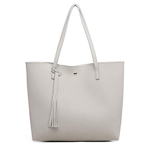 2018 Nueva Moda Europa Y Estados Unidos Bolso De Hombro Litchi Patrón Flow Sutop Bag PU Bolso De Gran Capacidad Para Mujeres 4