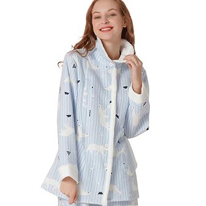 HUIFANG Nuevo Invierno Mujeres Embarazadas Que Amamantan Ropa De Algodón Collar Ligero Collar Pijamas Calientes Damas
