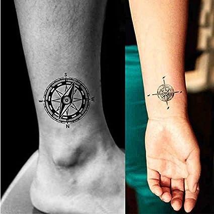 Oottati 2 Hojas Brújula Tatuajes Temporales TF168: Amazon.es: Belleza