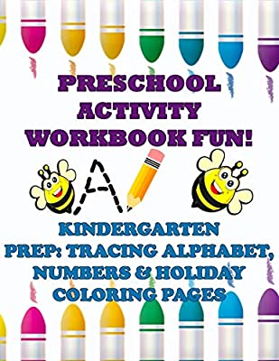 Preschool Activity Workbook Fun! Kindergarten Prep: Tracing ...