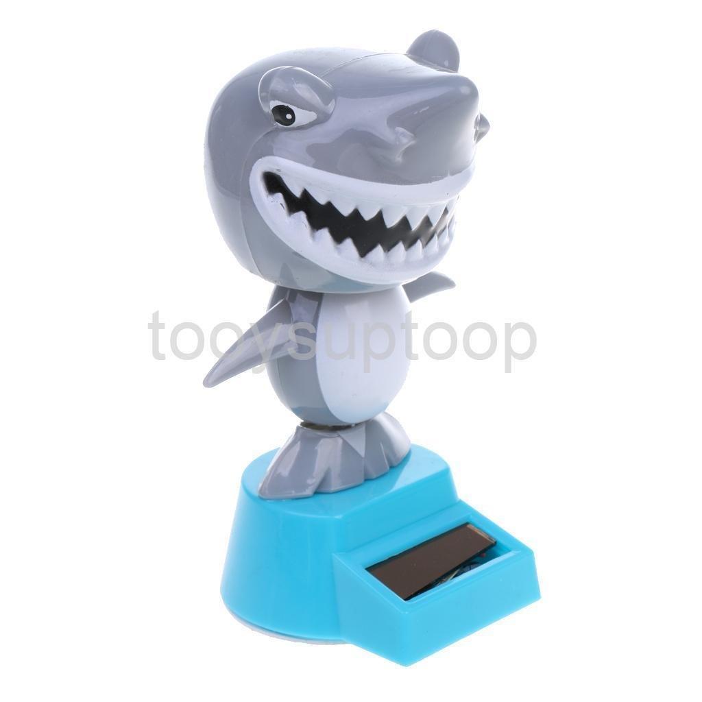 Xeno-Novelty Solar Powered Dancing Shark Dashboard Toy Home AUTO CAR Ornament