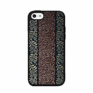 Dark Red and Blue Paisley TPU RUBBER SILICONE Phone Case Back Cover iPhone 5c