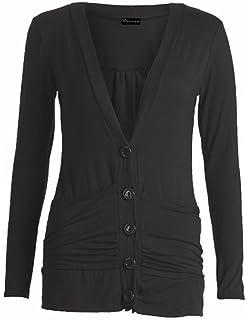 86d62416a7 AUK Ladies Women Boyfriend Cardigan Button Up Long Sleeve Top Cardigan (8-26 )