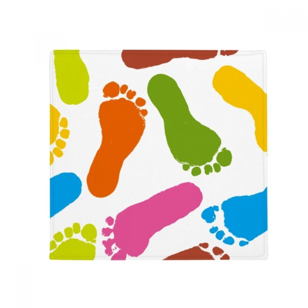 DIYthinker colorful Footprint Modern Style Fashion Poster Anti-Slip Floor Pet Mat Square Home Kitchen Door 80Cm Gift