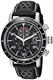 Citizen Men's 'Eco-Drive' Quartz Stainless Steel and Leather Casual Watch, Color Black (Model: CA0649-14E)