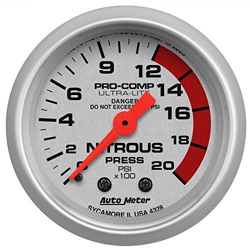 (Auto Meter 4328 Ultra-Lite Mechanical Nitrous Pressure Gauge)