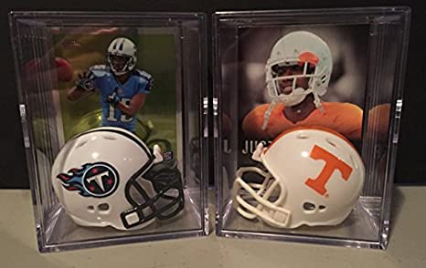 04658f44e9d Sports & Outdoors Tennessee Volunteers NCAA Smokey Gray Helmet Shadowbox w/  Derek Barnett card Riddell