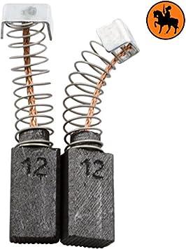 2.0x3.1x5.5 5x8x14mm Escobillas de Carb/ón para AEG SB2-600 taladro