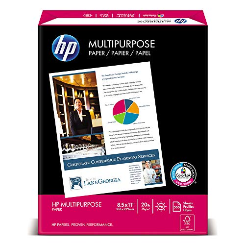 HP Papers 11510-0 Multipurpose Paper, 96 Bright, 20 Lb, Letter, White, 2500 Sheets/carton