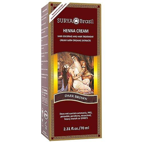 Surya Brazil. Henna Dark Brown Cream 2.31 Oz. (2 Pack) by Surya