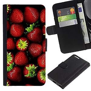 KingStore / Leather Etui en cuir / Apple Iphone 6 PLUS 5.5 / Fresa