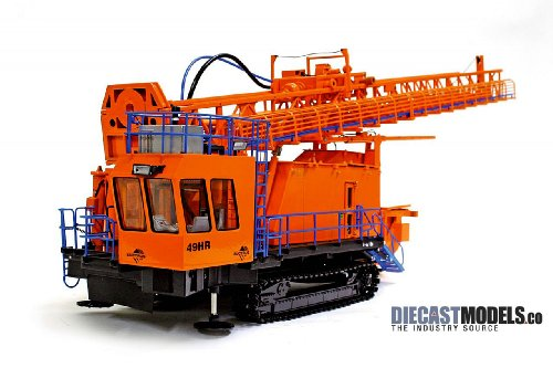 Bucyrus 49HR Blasthole Drill - Orange in 1:50 scale by TWH Collectibles