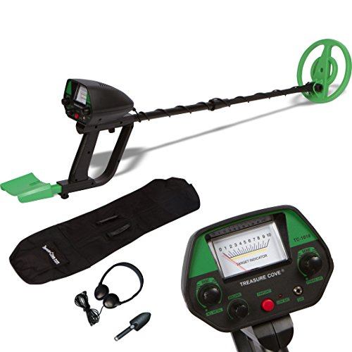 Treasure Cove TC-1018 Easy-To-Use Waterproof Metal Detector Complete Kit with Pinpointer & Discrimination Mode, Carry Bag and Headset (Treasure Cove Metal Detector)