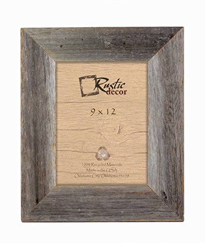 9×12 – 3.5″ Extra Wide Reclaimed Rustic Barnwood Wall Frame Review