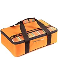 Rachael Ray Lasagna Lugger, Insulated Casserole Carrier for Potluck Parties, Picnics, Tailgates - Fits 9x13 Baking Dish, Orange