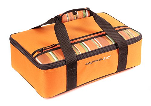 Casserole Orange (Rachael Ray Lasagna Lugger, Insulated Casserole Carrier for Potluck Parties, Picnics, Tailgates - Fits 9