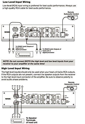 ssl ev4 1000 evolution 1000 watts full range class a b 4 channel 2 8 rh amazon ca high level input amp wiring high level input amp wiring