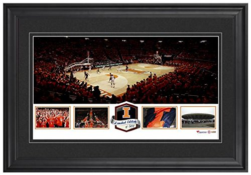 state-farm-center-illinois-fighting-illini-framed-panoramic-collage-limited-edition-of-500-fanatics-