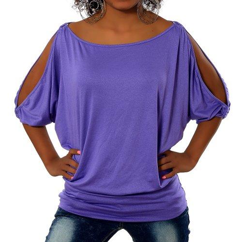 3 Camicia Lilla Diva A Maniche Donna jeans 4 qB511wIpx