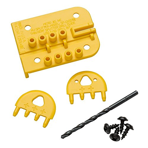 Micro Jig Thin Kerf Standard MJ Splitter Kit - Drill Unbreakable Bits