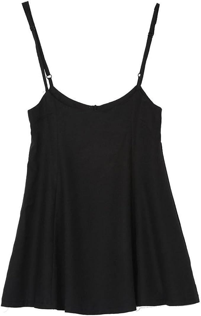 QinMM Mini Halter Petos Vestido de Mujer, Falda Negra de Fiesta de Noche de Verano: Amazon.es: Ropa y accesorios