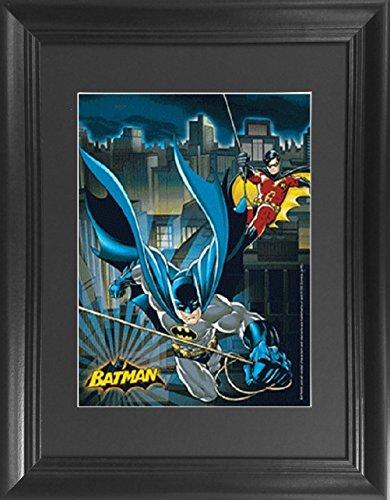Batman & Robin Framed 3D Wall Art - DC Comics Officially Licensed 3D Lenticular Poster Framed & Matted - 14.5x18.5