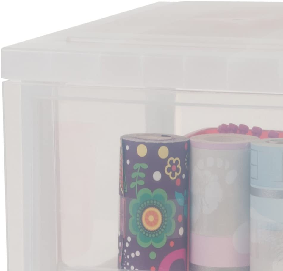 mit Rollen IRIS frostwei/ß // transparent Schubladenschrank // Schubladenbox // Rollwagen // Rollcontainer // Werkzeugschrank Smart Drawer Chest Kunststoff SDC-314