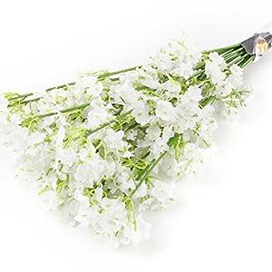 TiaoBug Baby Breath/Gypsophila Wedding Decoration White Colour Artificial Flowers,12 pieces 6