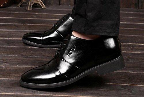 Happyshop (tm) Scarpa Da Uomo In Pelle 2,36 Altezza Aumentando Scarpe Oxfords Ascensore Scarpe 6cm Nero