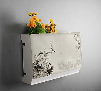GYZS Shelf Set-top Box Wandhalterung Wand Kreative Router Sockel Abdeckung Schlafzimmer Mit T/ür Lagerregal Farbe : 1