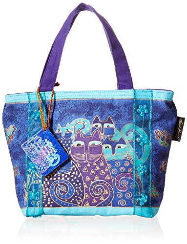 Price comparison product image Laurel Burch Bag, 11 by 3 by 8-Inch, Indigo Cats