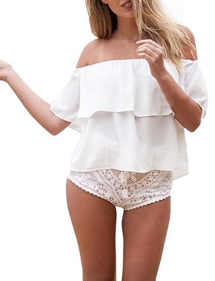 Blusas de moda sin hombros