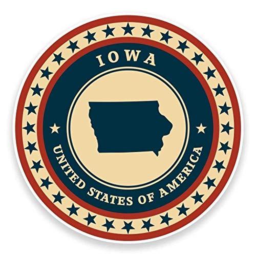 Iowa USA Vinyl Sticker Decal Laptop Car Bumper Sticker Travel Luggage Car iPad Sign Fun 5