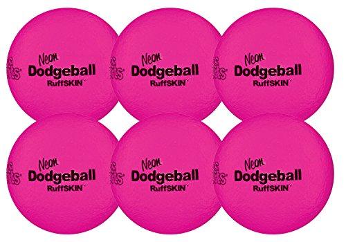 RuffSKIN Neon Pink 6'' Foam Dodgeball by Palos Sports