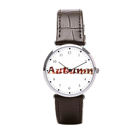 Ser un hombre piel Wrap Relojes país negro gracias reloj de pulsera hombre: Amazon.es: Relojes