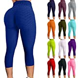 Famous TikTok Leggings, Yoga Pants for Women High Waist Tummy Control Booty Bubble Hip Lifting Workout Running Tights