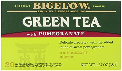 Bigelow Green Tea w/ Pomegranate Tea Bags,20 Count