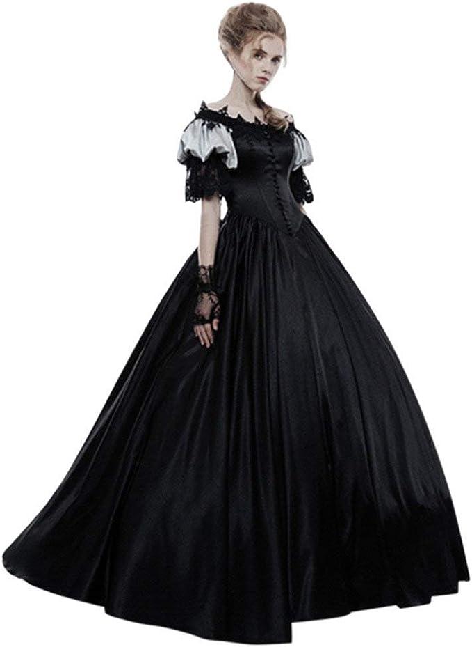 POLP Halloween Vestidos de Fiesta Largos Mujer Medieval Gótico ...