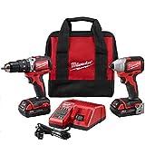 Milwaukee 2799-22CT M18 Compact Brushless Hammer Drill/Impact Driver Kit
