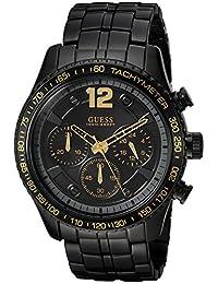 GUESS Men's Quartz Stainless Steel Casual Watch, Color:Black (Model: U0969G2)