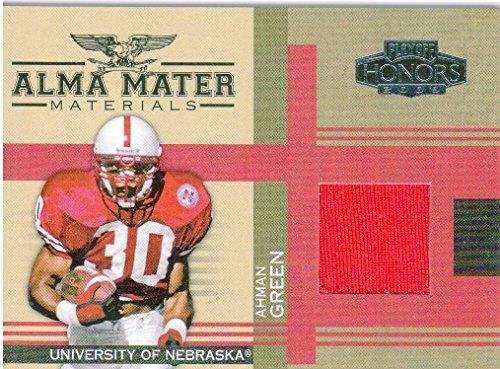2005 Playoff Honors Alma Mater Materials #AM2 Ahman Green Game-Worn Jersey Card - Ahman Green Game