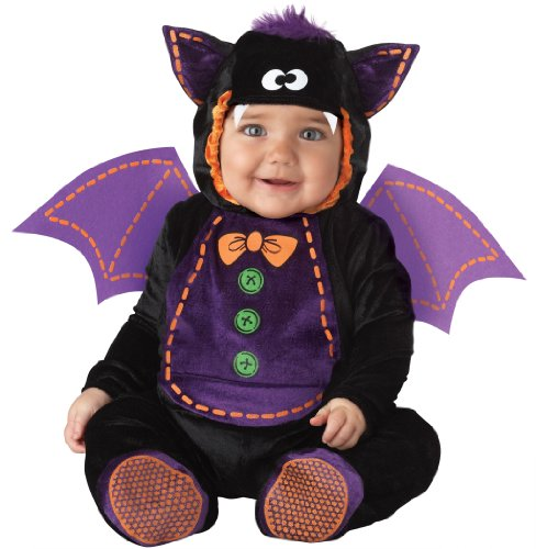 InCharacter Costumes Baby Bat Costume, Black/Purple, Medium -